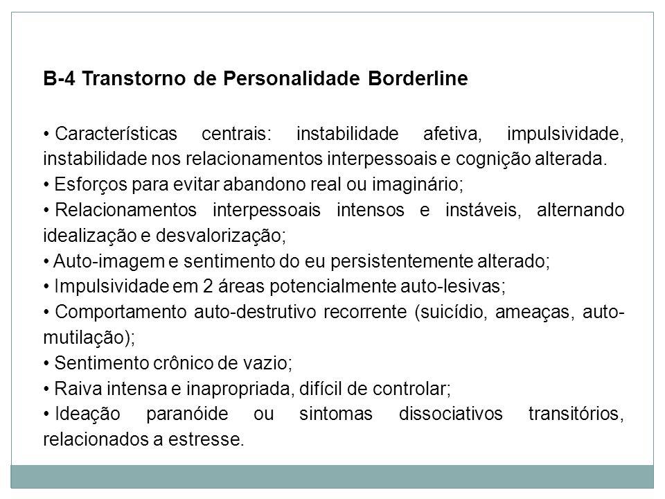 Personalidade B-4 Transtorno de Personalidade Borderline