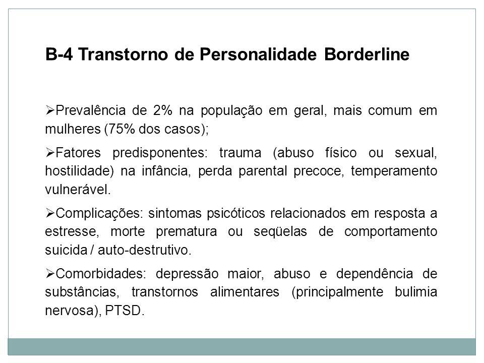B-4 Transtorno de Personalidade Borderline