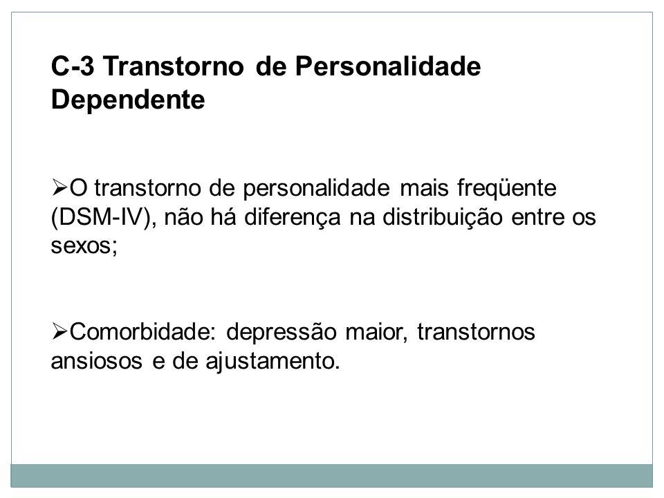 C-3 Transtorno de Personalidade Dependente