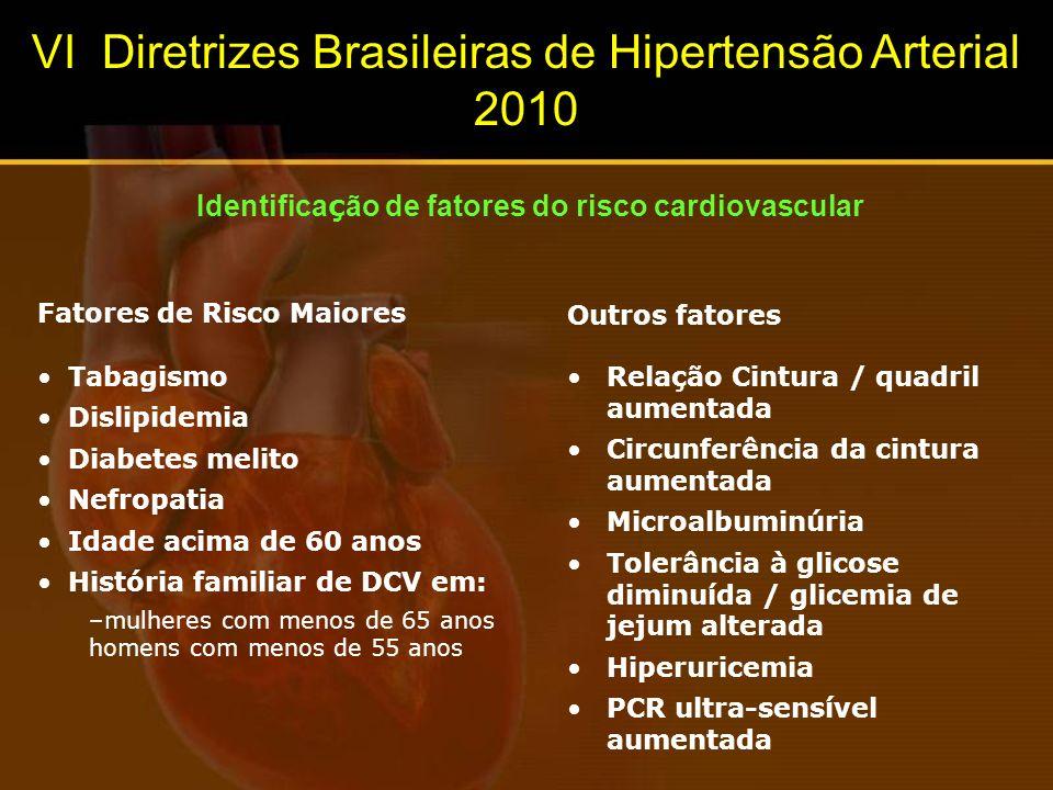 Identificação de fatores do risco cardiovascular