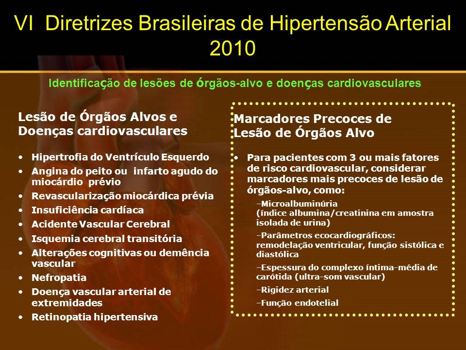 Identificação de lesões de órgãos-alvo e doenças cardiovasculares