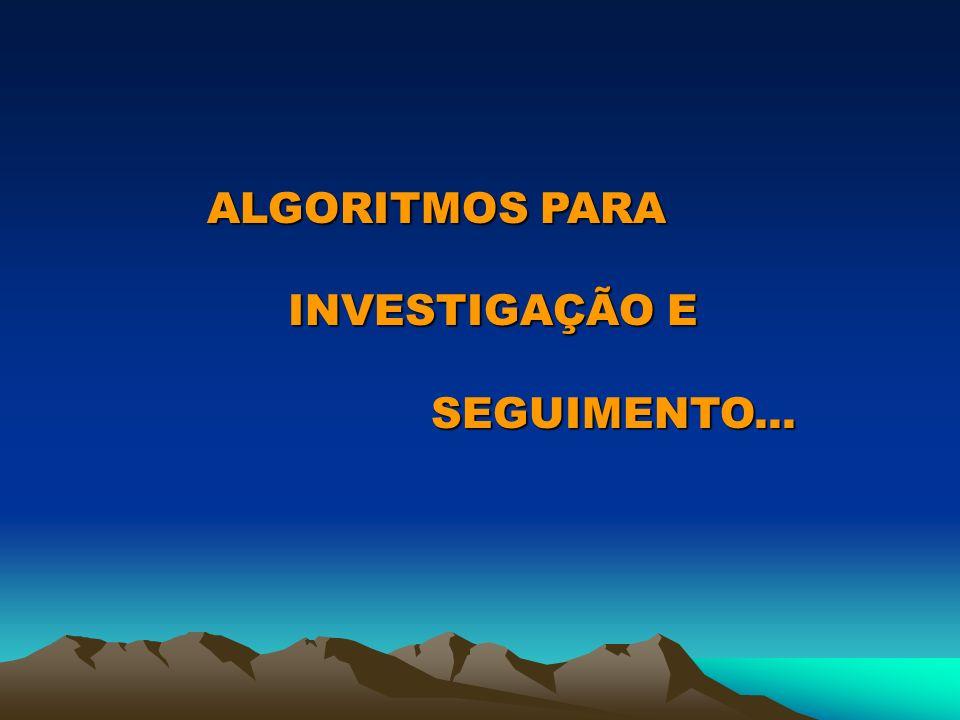 ALGORITMOS PARA INVESTIGAÇÃO E SEGUIMENTO...