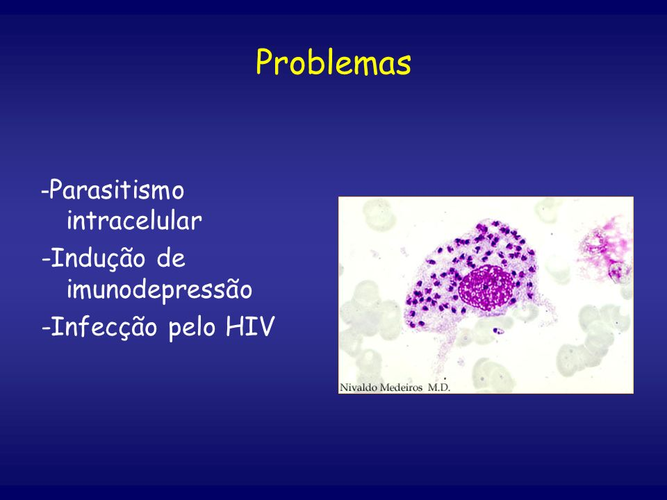 Problemas -Parasitismo intracelular -Indução de imunodepressão