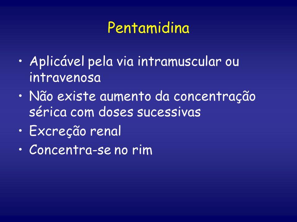 Pentamidina Aplicável pela via intramuscular ou intravenosa