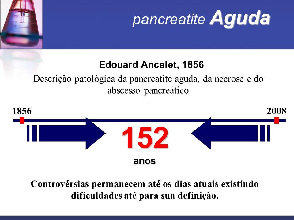 152 anos pancreatite Aguda Edouard Ancelet, 1856