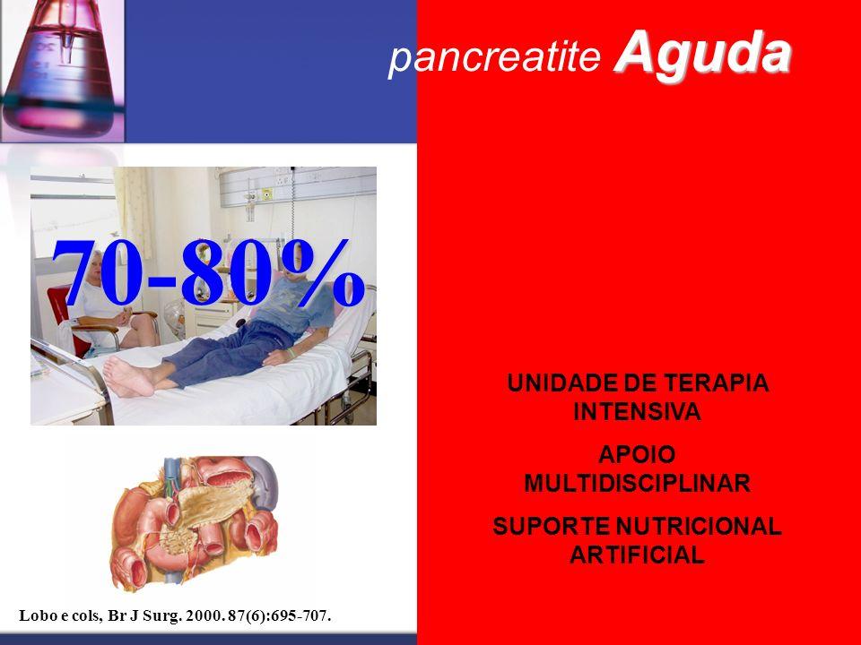 70-80% 20-30% pancreatite Aguda UNIDADE DE TERAPIA INTENSIVA