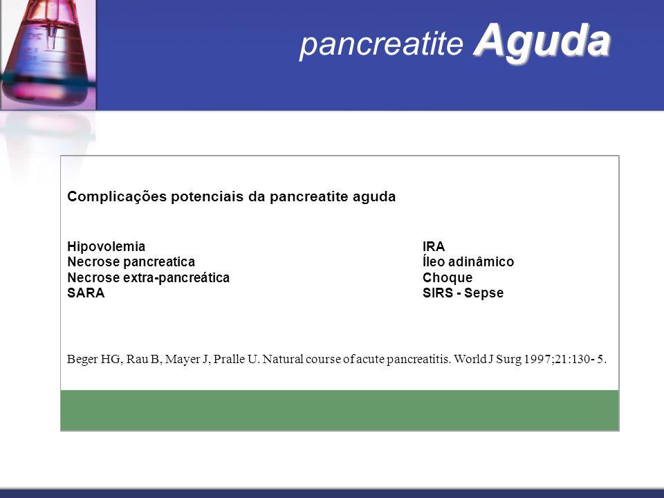 pancreatite Aguda Complicações potenciais da pancreatite aguda