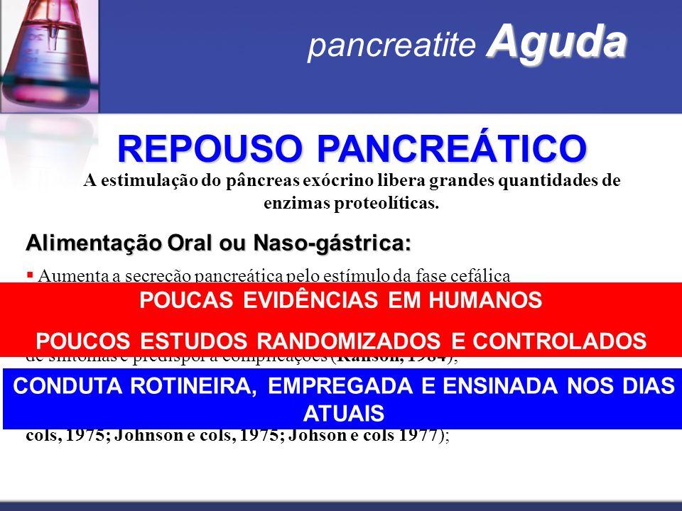 REPOUSO PANCREÁTICO pancreatite Aguda
