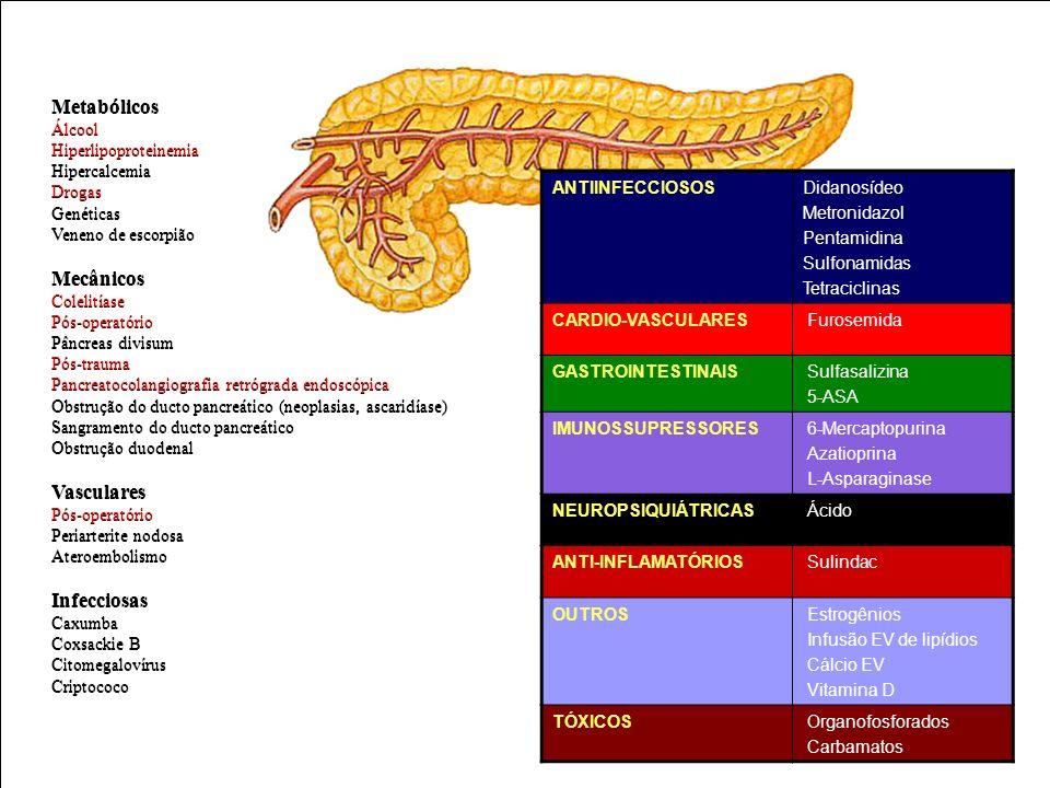 Metabólicos Metabólicos Mecânicos Mecânicos Vasculares Vasculares