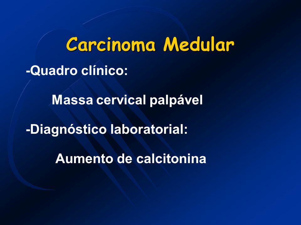 Carcinoma Medular -Quadro clínico: Massa cervical palpável