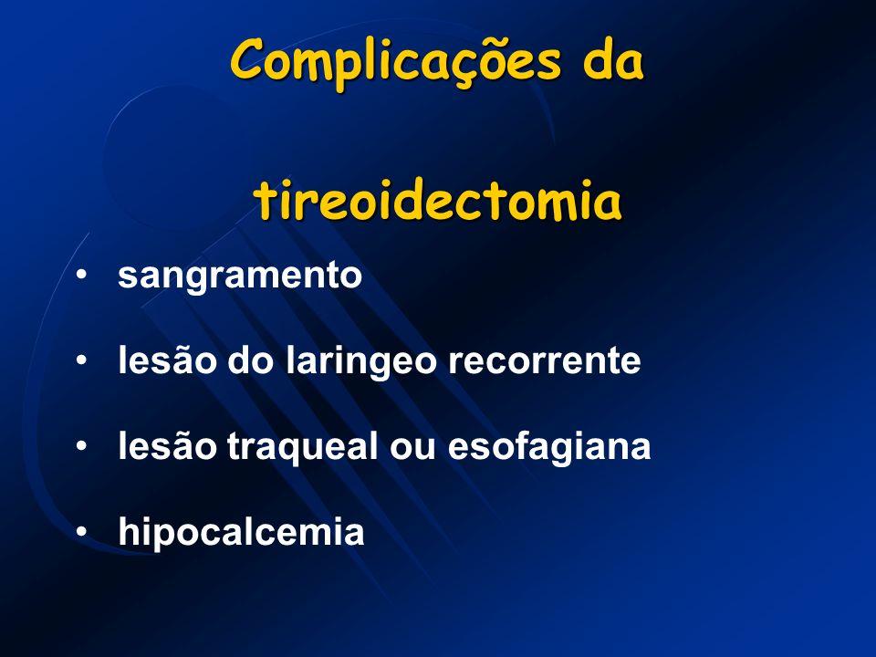 Complicações da tireoidectomia
