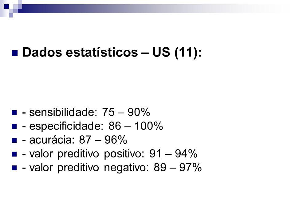 Dados estatísticos – US (11):