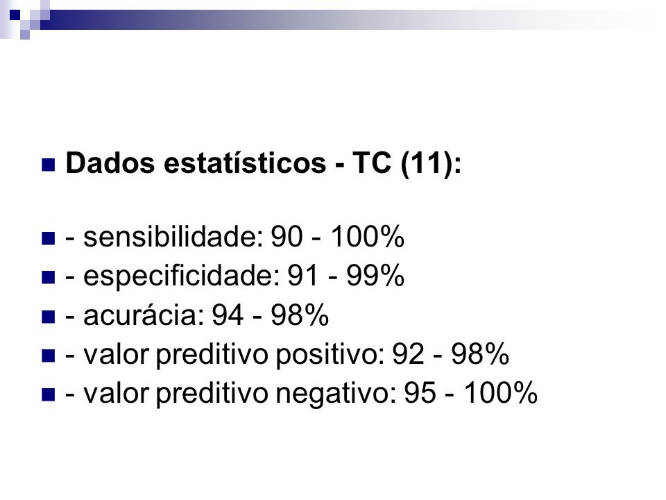 Dados estatísticos - TC (11):