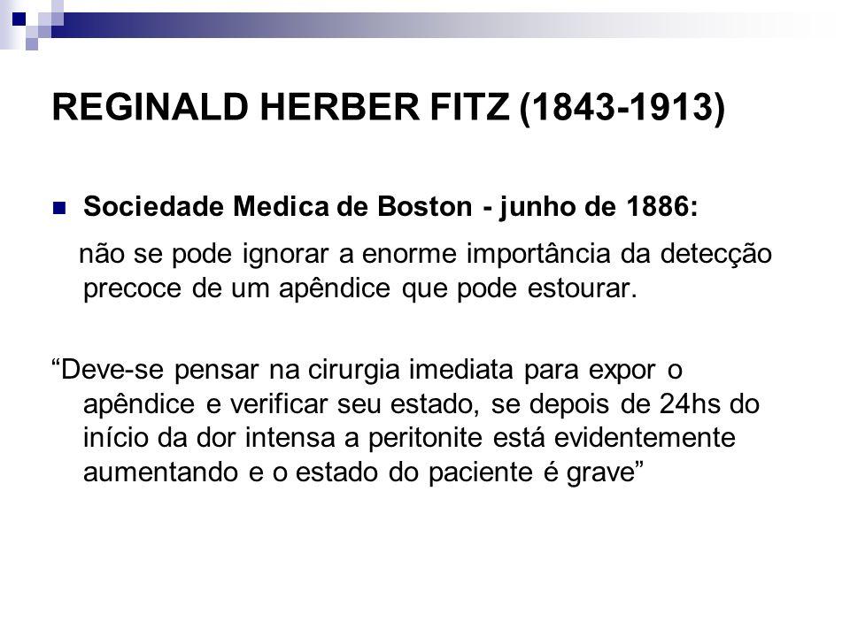 REGINALD HERBER FITZ (1843-1913)