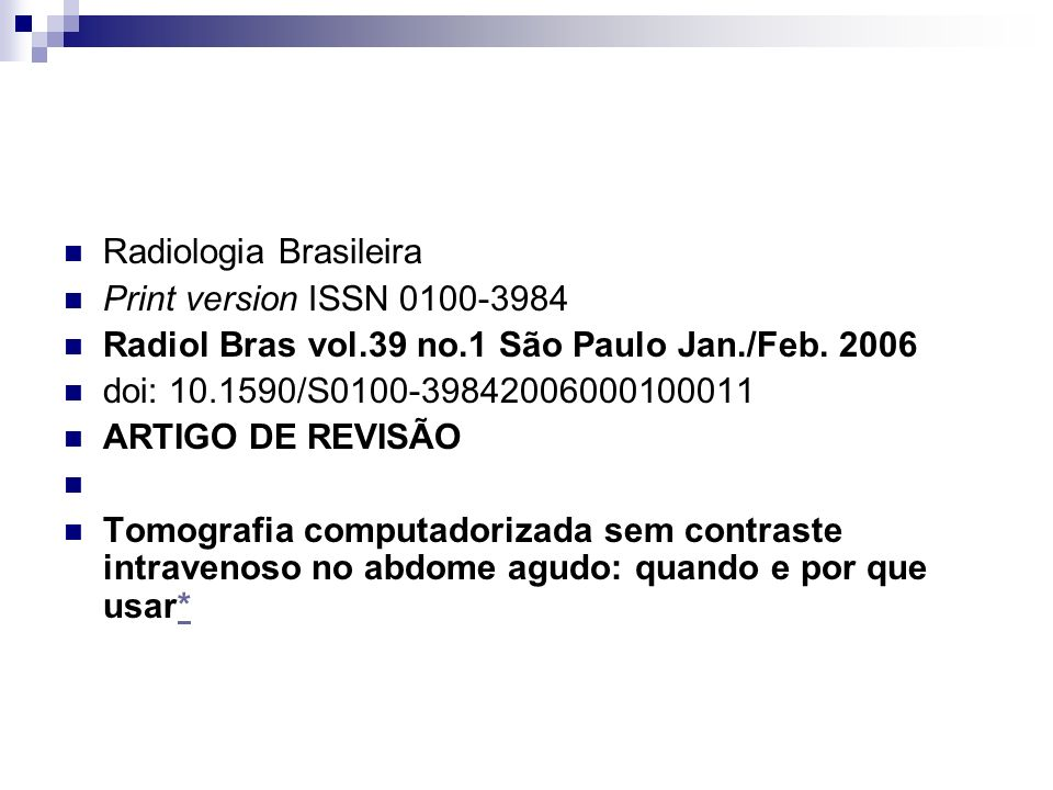 Radiologia Brasileira
