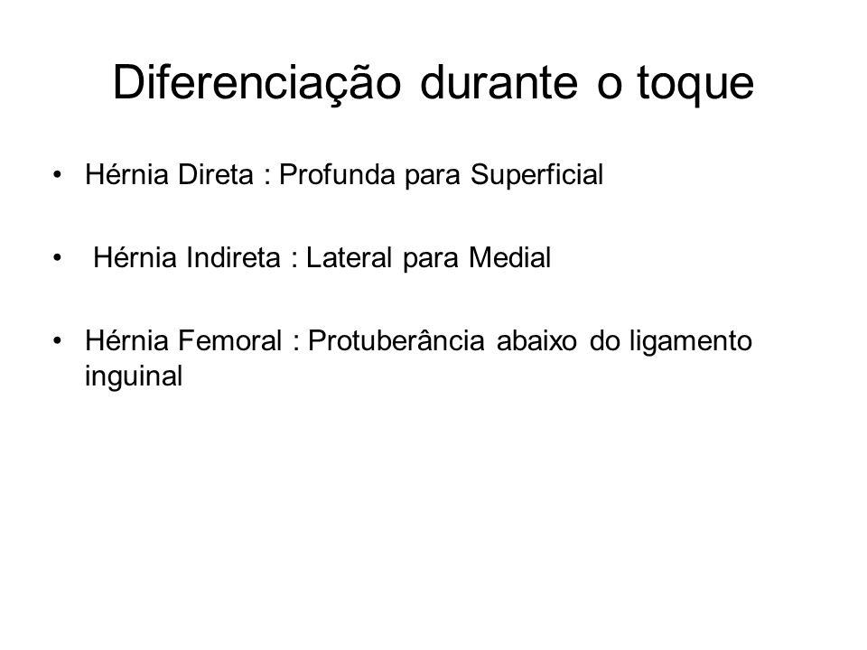 Diferenciação durante o toque