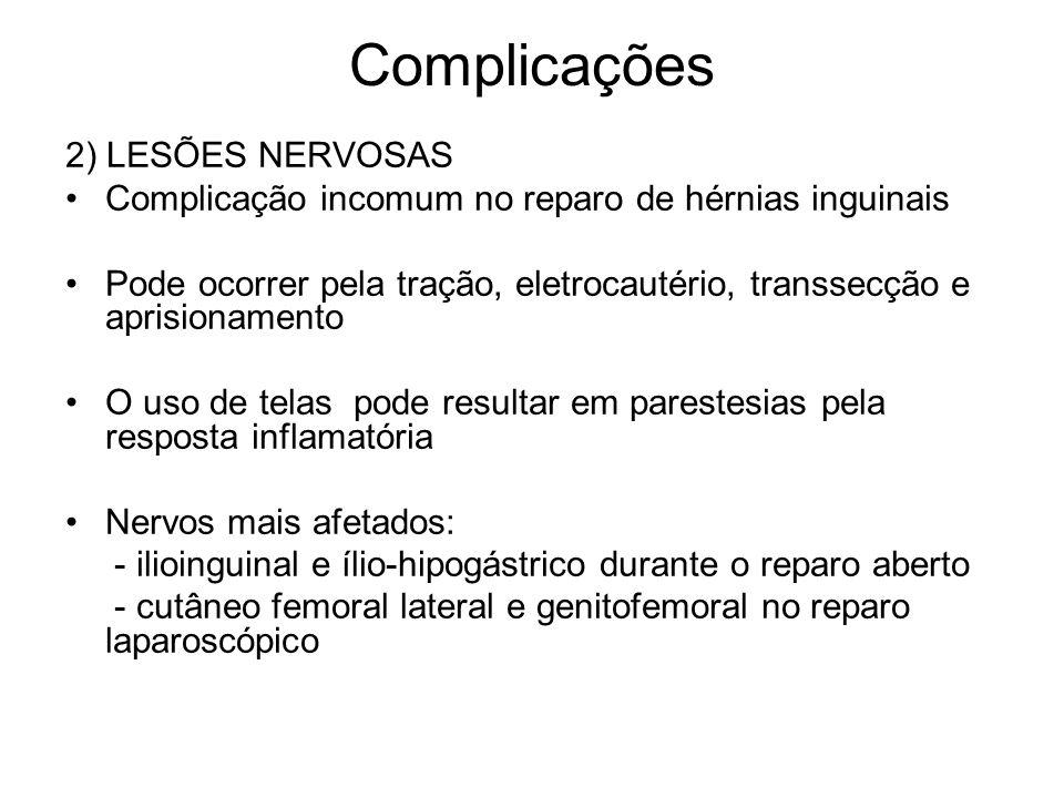 Complicações 2) LESÕES NERVOSAS