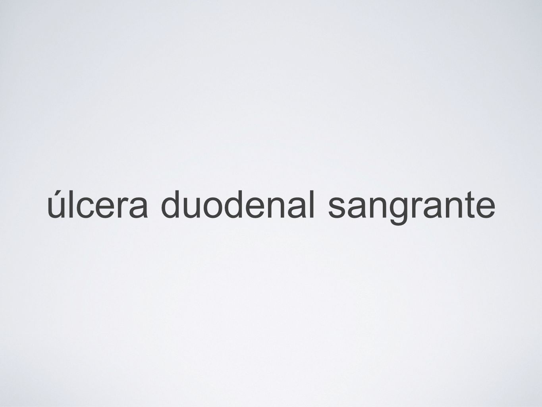 úlcera duodenal sangrante