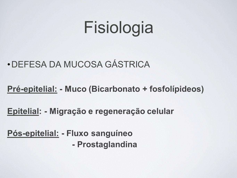 Fisiologia DEFESA DA MUCOSA GÁSTRICA