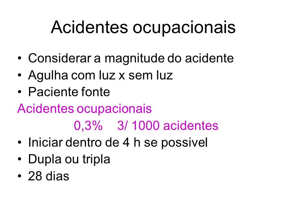 Acidentes ocupacionais