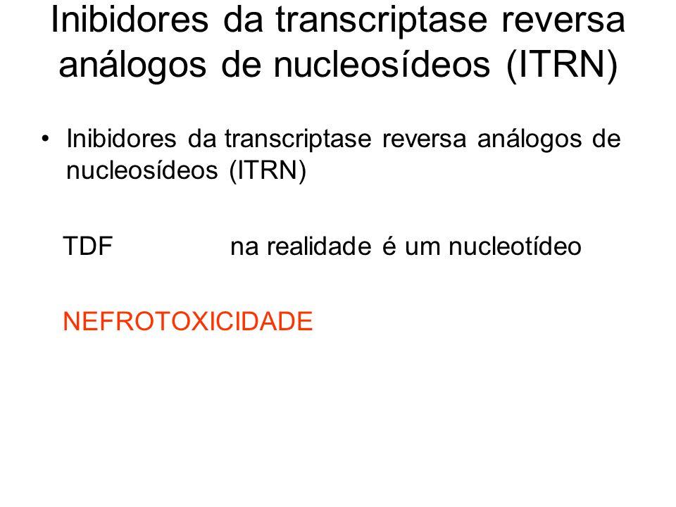 Inibidores da transcriptase reversa análogos de nucleosídeos (ITRN)