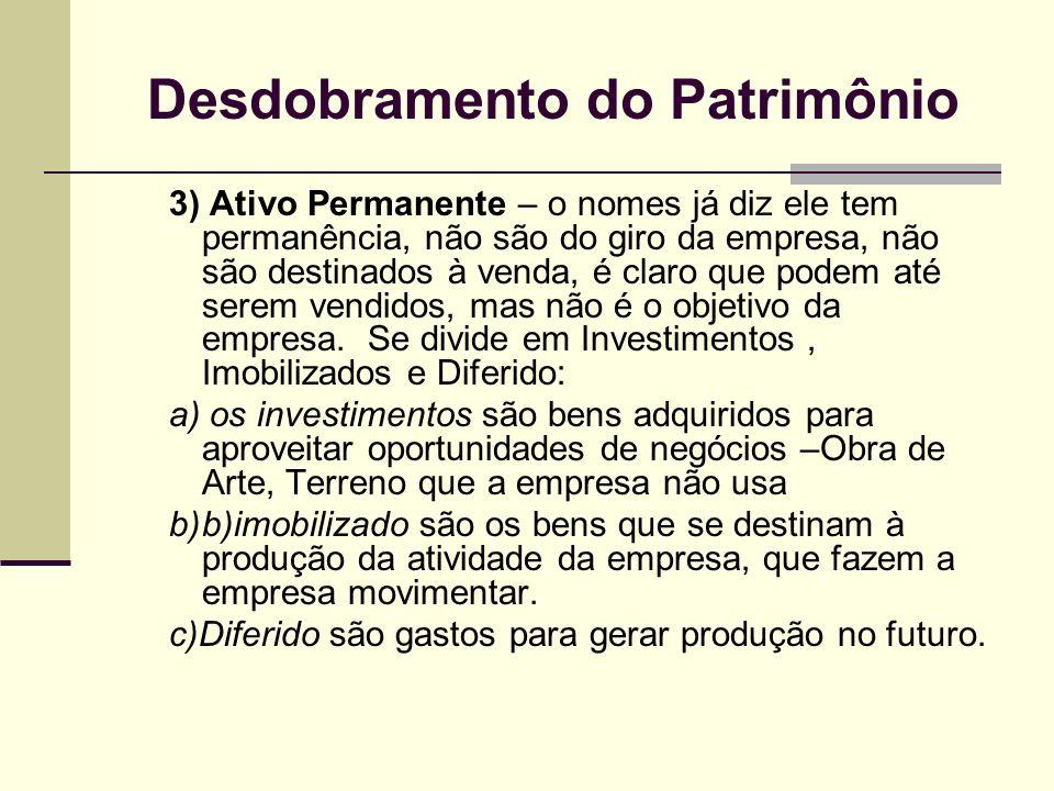 Desdobramento do Patrimônio
