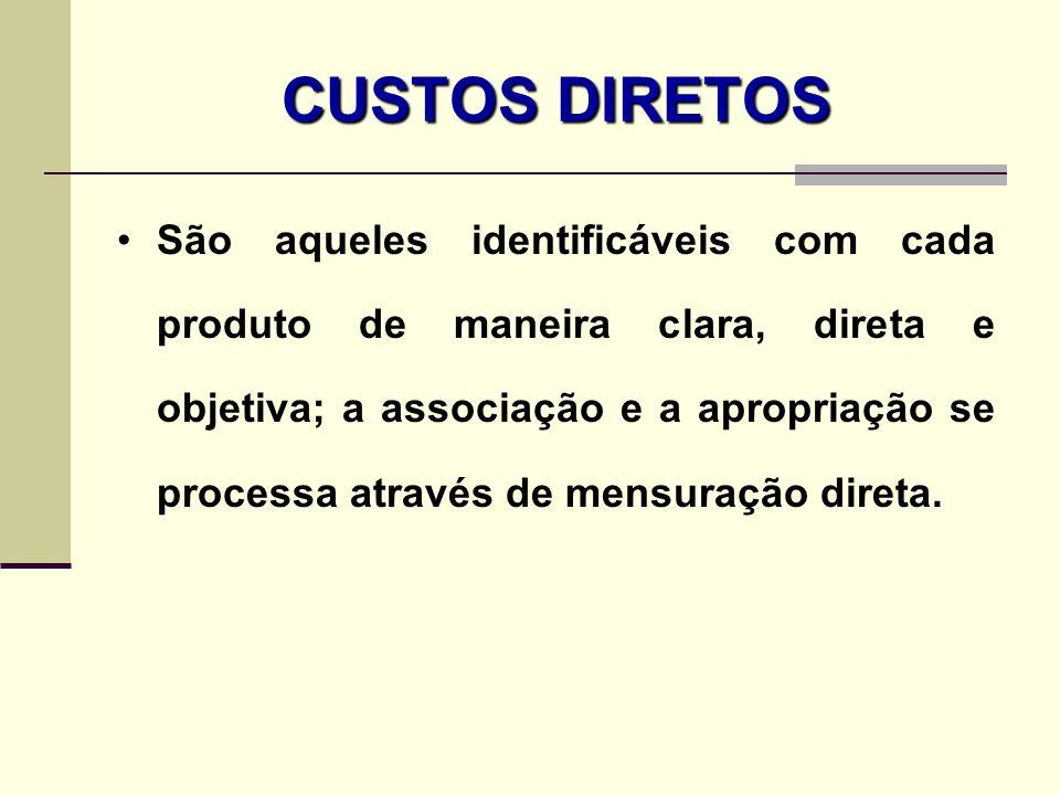 CUSTOS DIRETOS