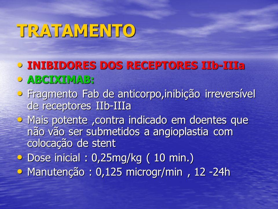TRATAMENTO INIBIDORES DOS RECEPTORES IIb-IIIa ABCIXIMAB:
