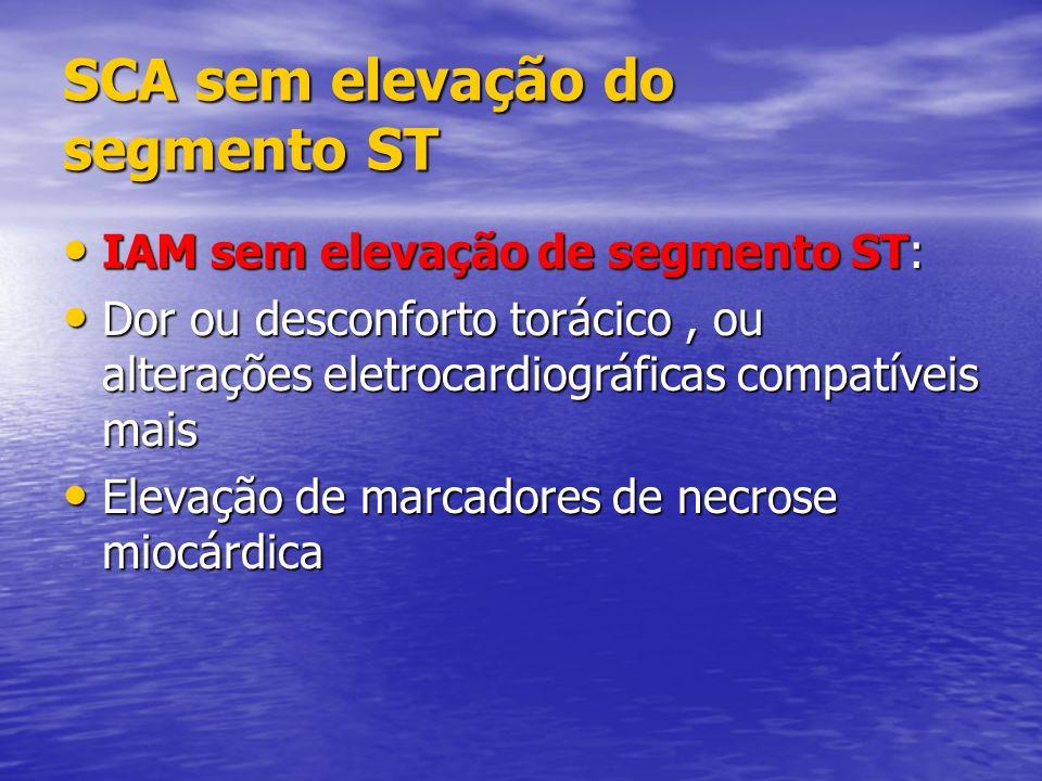 SCA sem elevação do segmento ST