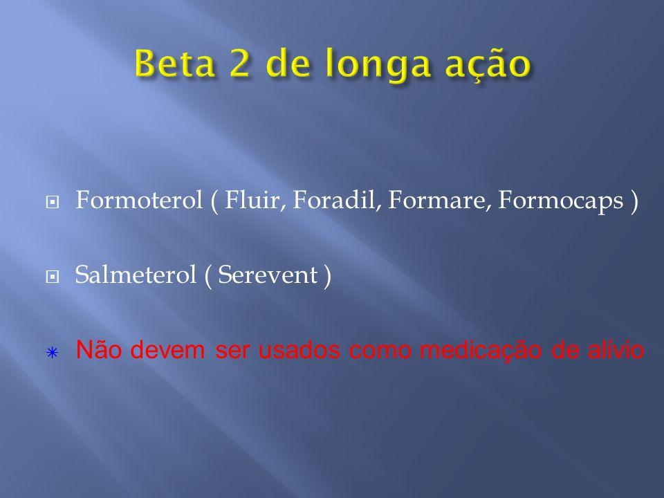 Beta 2 de longa ação Formoterol ( Fluir, Foradil, Formare, Formocaps )