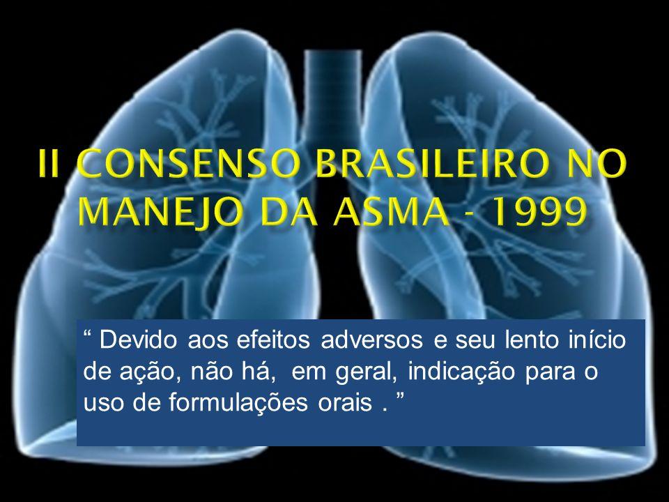 II Consenso Brasileiro no Manejo da Asma - 1999