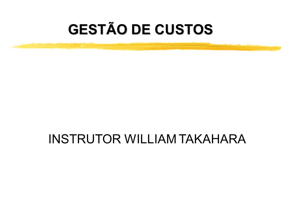 INSTRUTOR WILLIAM TAKAHARA