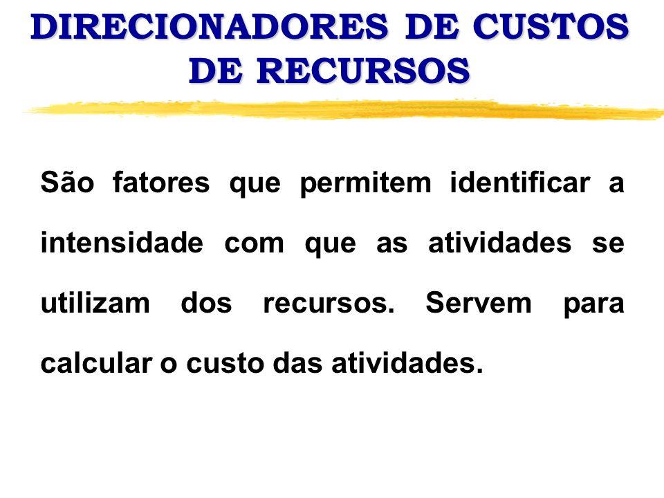 DIRECIONADORES DE CUSTOS DE RECURSOS