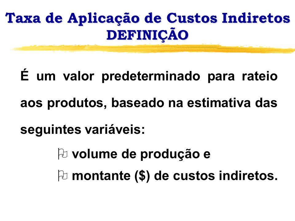 Taxa de Aplicação de Custos Indiretos