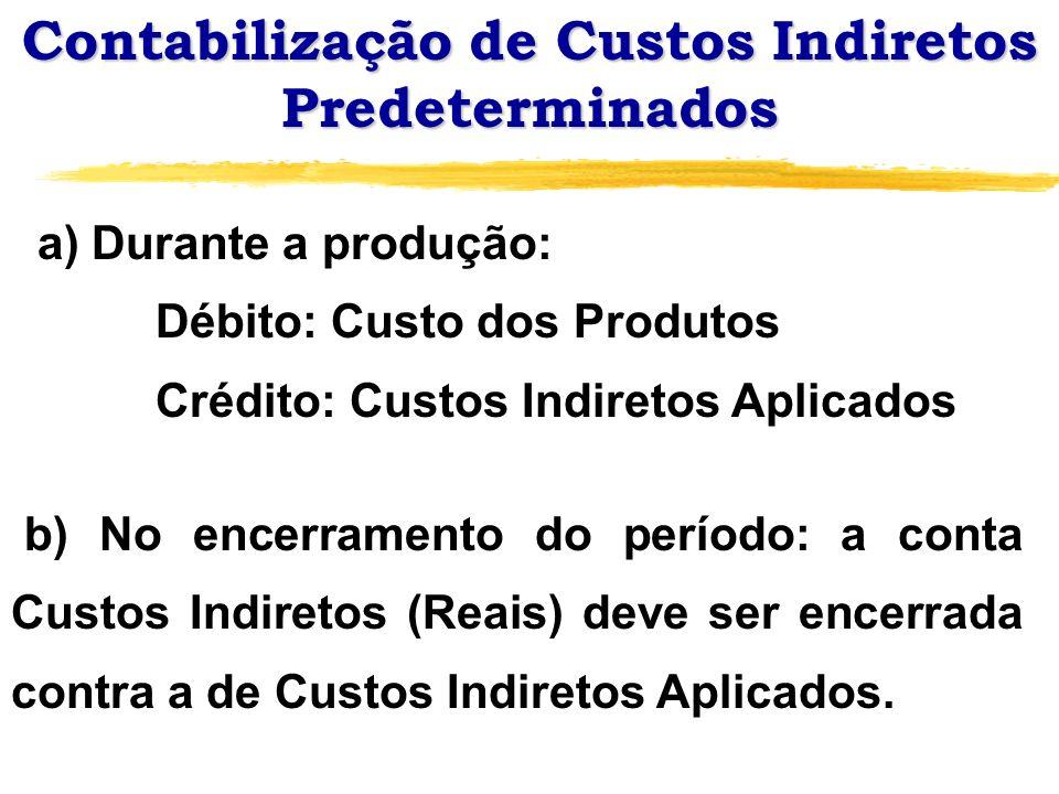 Contabilização de Custos Indiretos Predeterminados