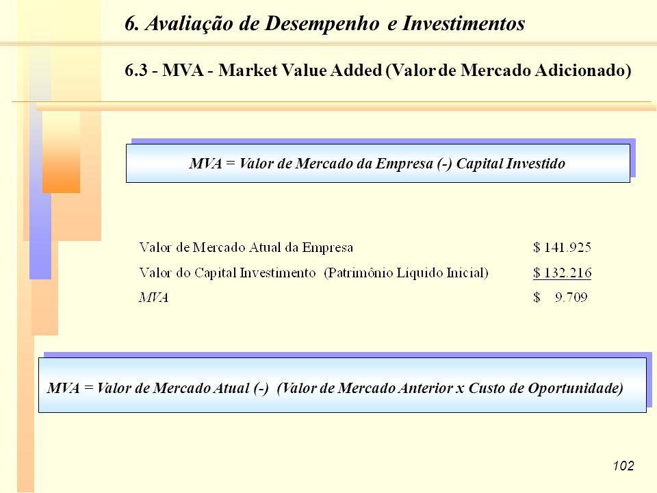 6. Avaliação de Desempenho e Investimentos