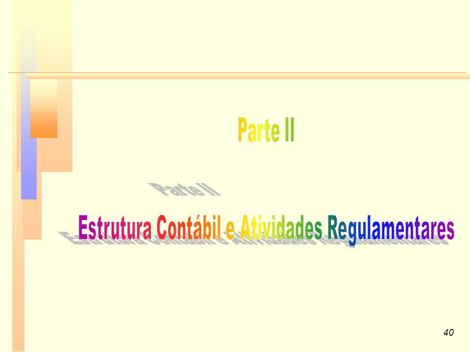 Estrutura Contábil e Atividades Regulamentares