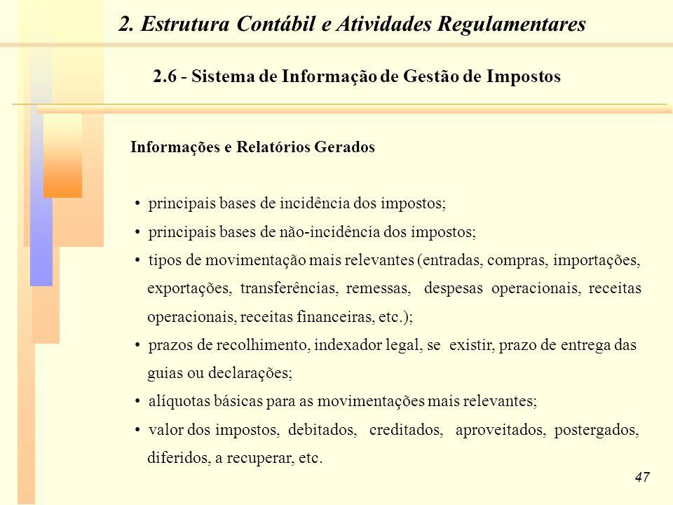 2. Estrutura Contábil e Atividades Regulamentares