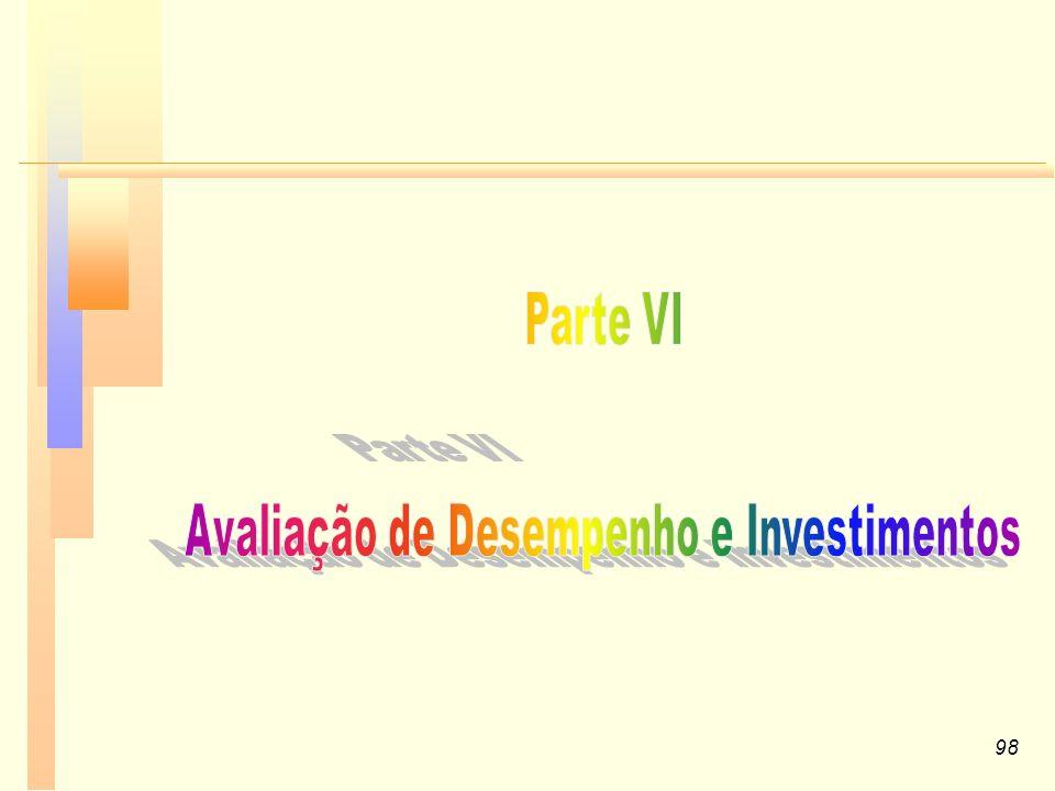 Avaliação de Desempenho e Investimentos