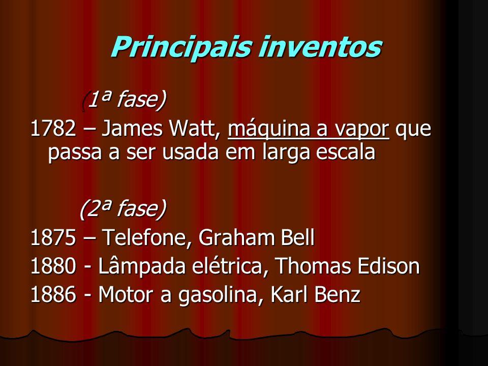 Principais inventos (1ª fase)