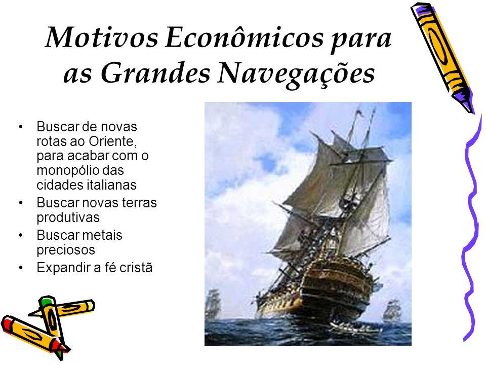 Motivos Econômicos para as Grandes Navegações