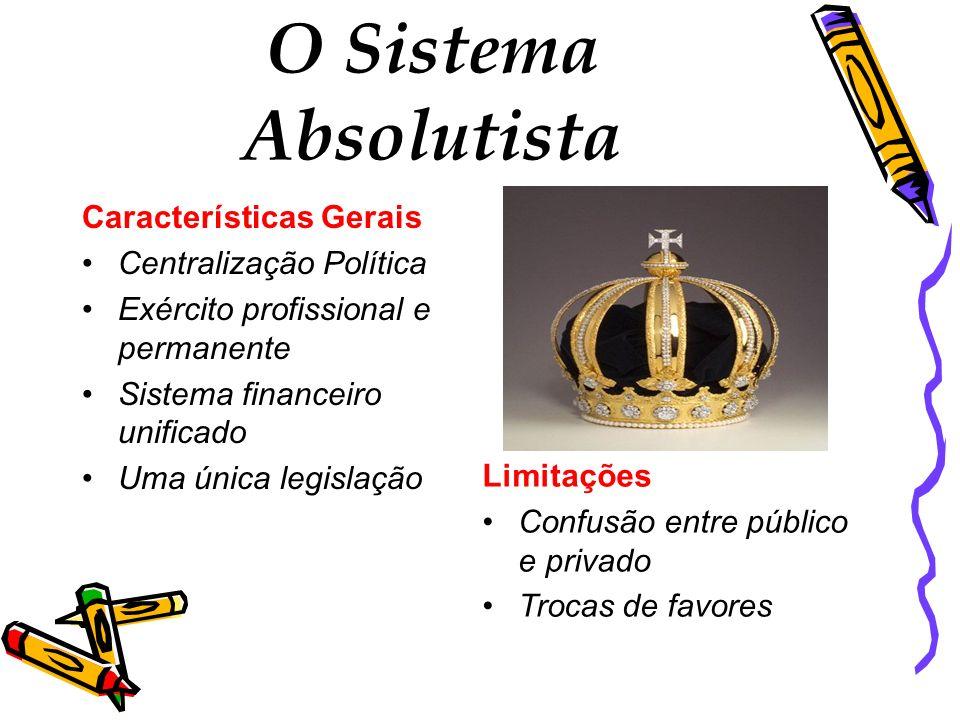 O Sistema Absolutista Características Gerais Centralização Política