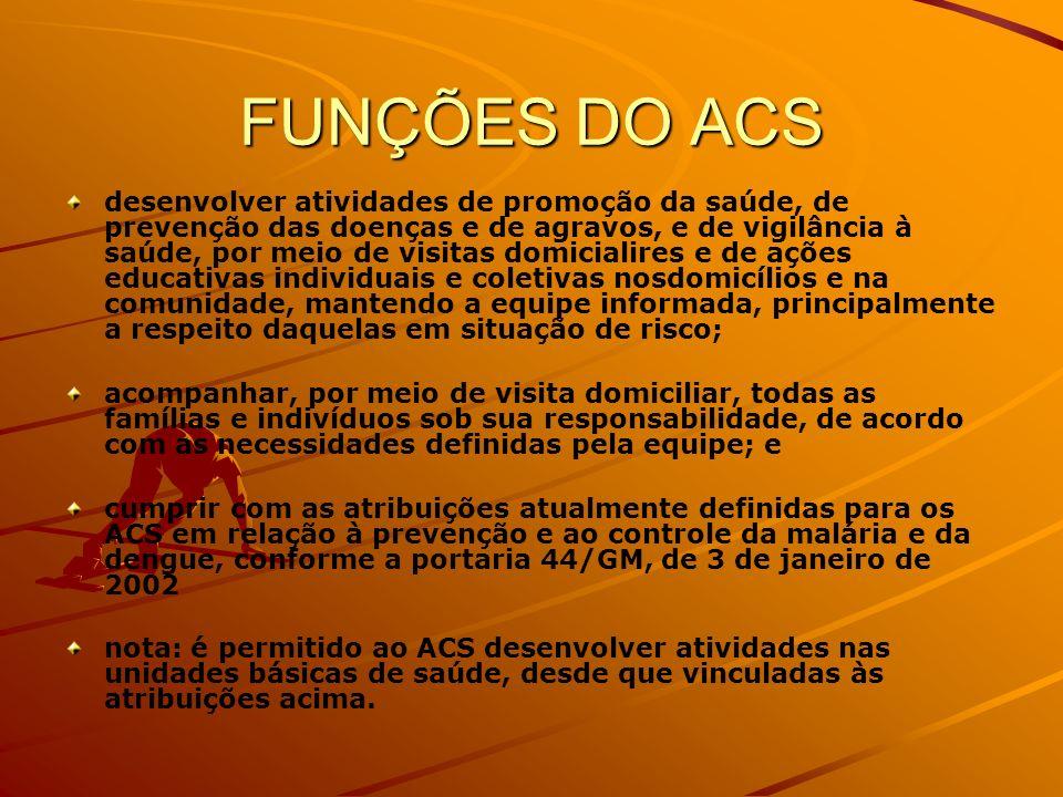 FUNÇÕES DO ACS