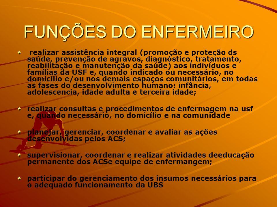 FUNÇÕES DO ENFERMEIRO