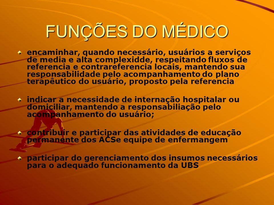 FUNÇÕES DO MÉDICO