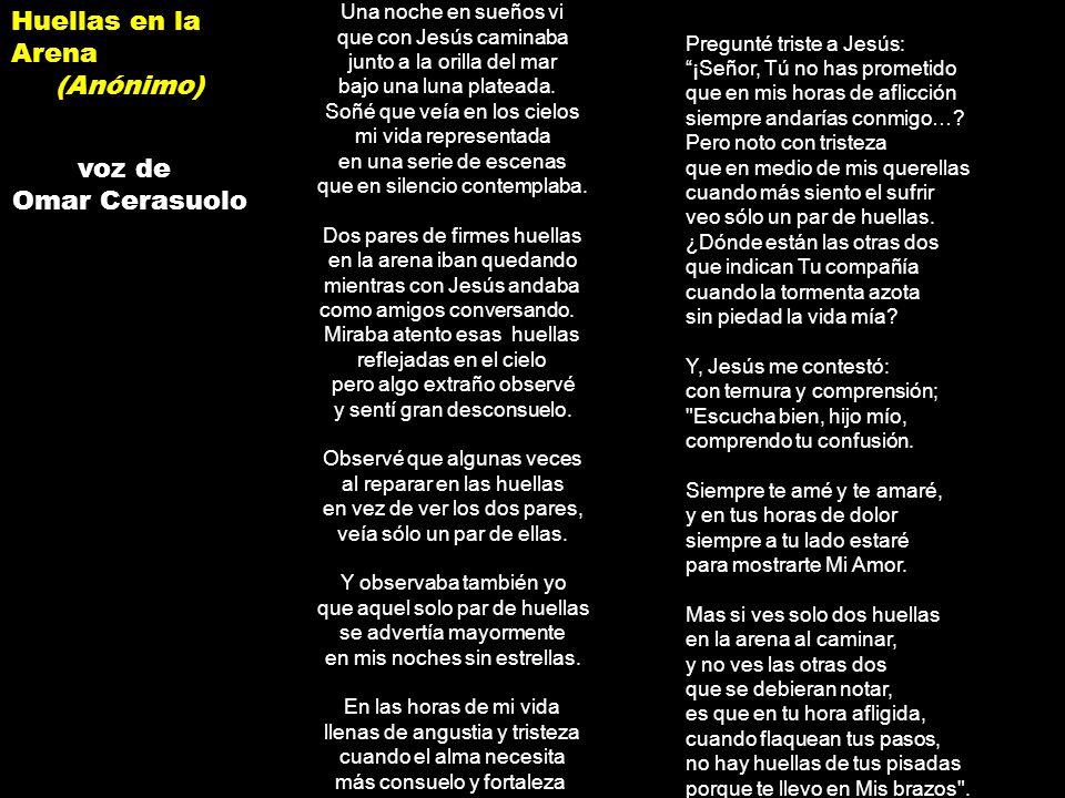 Huellas en la Arena (Anónimo) voz de Omar Cerasuolo