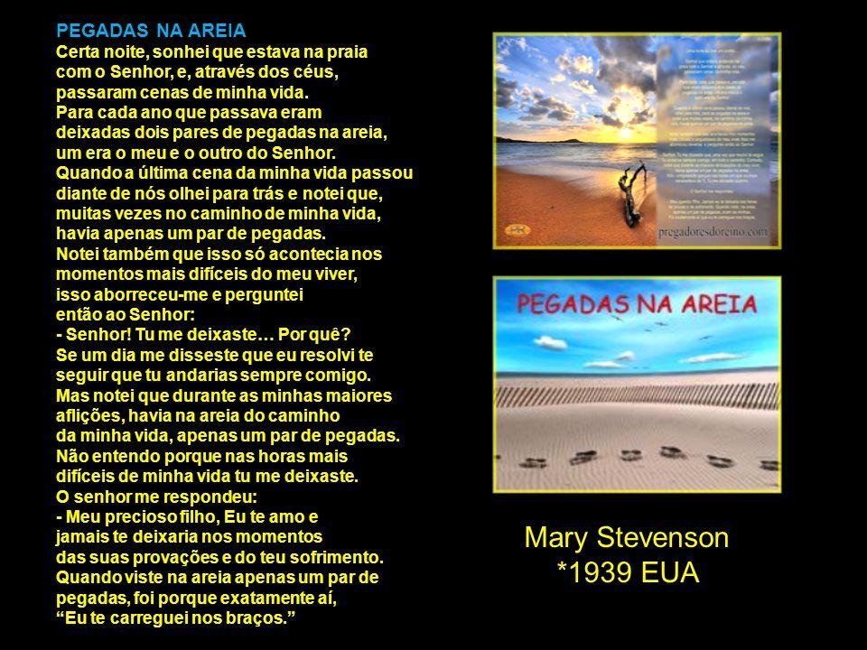 Mary Stevenson *1939 EUA PEGADAS NA AREIA