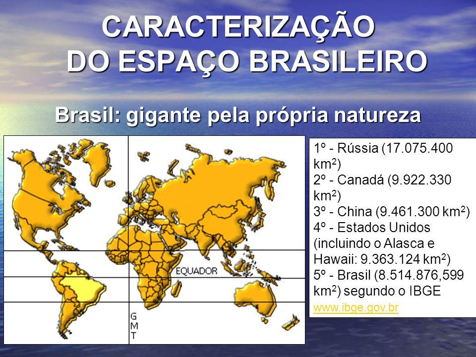 CARACTERIZAÇÃO DO ESPAÇO BRASILEIRO