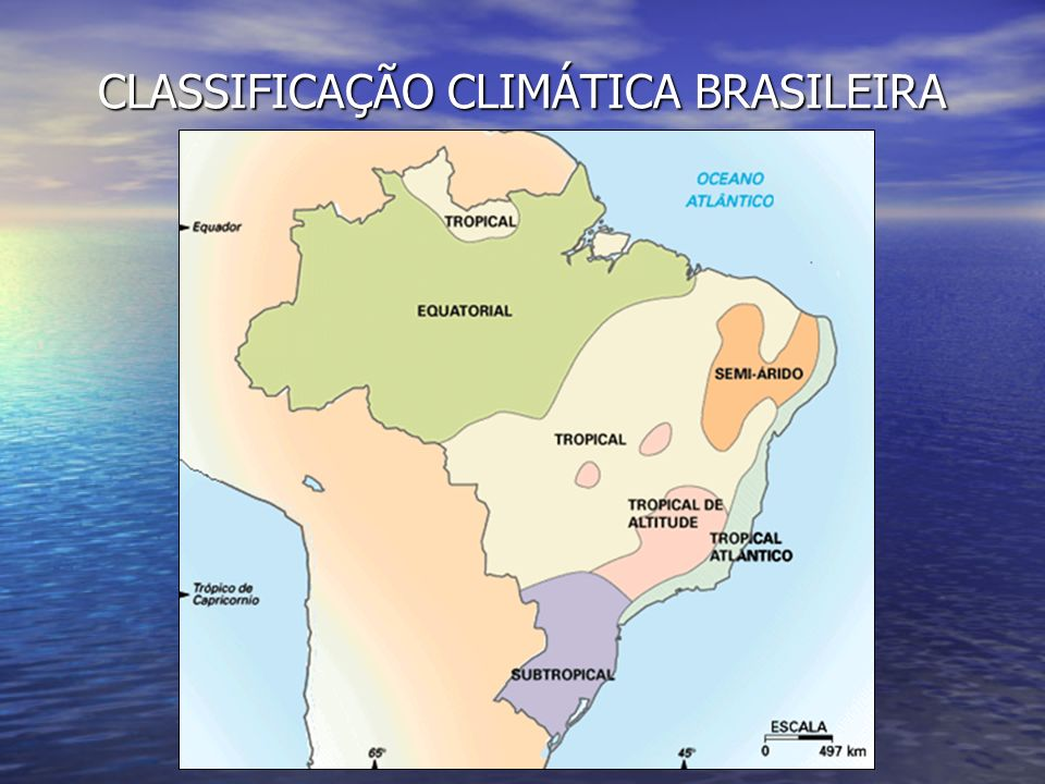 CLASSIFICAÇÃO CLIMÁTICA BRASILEIRA