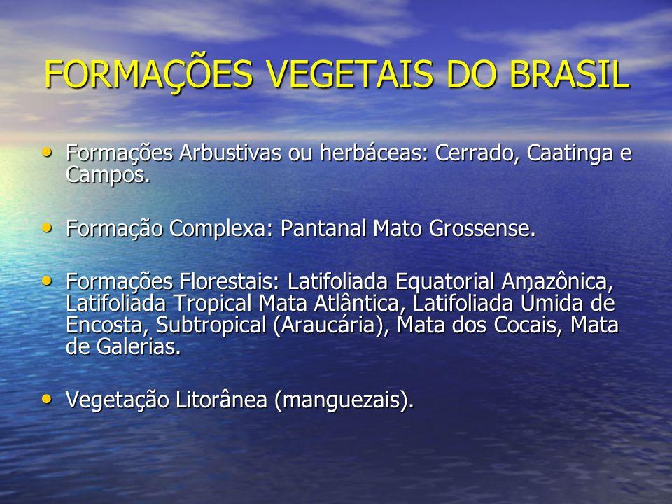 FORMAÇÕES VEGETAIS DO BRASIL